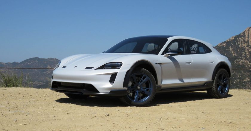Porsche released footage of Taycan Cross Turismo ahead of its launch