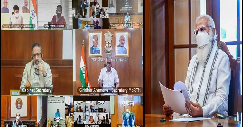 PM Modi holds High-Level meeting amid Oxygen crisis to Ensure the fastest Transportation of Oxygen Supply