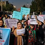 Afghan Women Take to the Streets Against Taliban Ban on Work